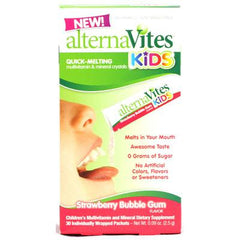 Alternavites Kids Quick-Melting Multivitamins Strawberry Bubble Gum - 30 Packets