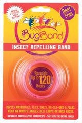 Bug Band Wristband Insect Repellent Pink - Case of 12