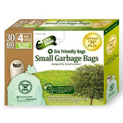 Eco-Friendly Bags Small Trash Bags - 4 Gallon - 30 Pack