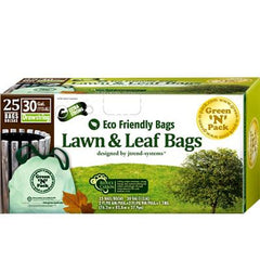 Eco-Friendly Bags Lawn and Leaf Trash Bags - 30 Gallon - 25 Pack