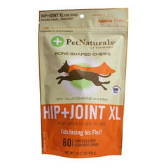 Pet Naturals of Vermont Hip and Joint XL Chews for Dogs Over 75 lbs Chicken Liver - 60 Chewables