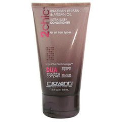 Giovanni Hair Care Products Conditioner - 2Chic Sleek - Travel Size - Case of 12 - 1.5 fl oz