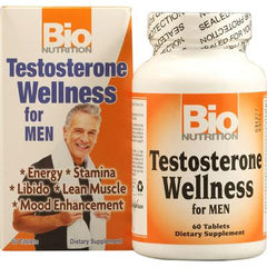 Bio Nutrition Testosterone Wellness for Men - 60 Tablets