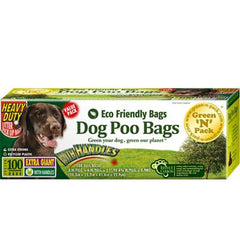 Eco-Friendly Bags Dog Poo Bags Xtra Giant Ties - 100 Pack