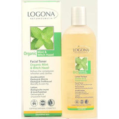 Logona Naturkosmetik Facial Toner - Organic Mint and Witch Hazel - 4.2 fl oz