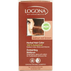 Logona Naturkosmetik Herbal Hair Color - Walnut Red Brown - 3.5 fl oz