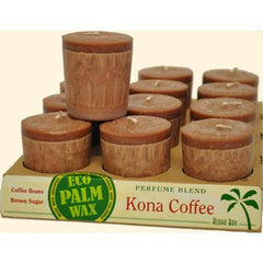 Aloha Bay Votive Candle - Kona Coffee - Case of 12 - 2 oz