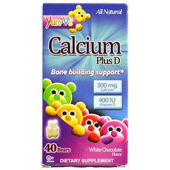 Yum V's Calcium Plus D White Chocolate - 40 Bears