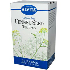 Alvita Teas Organic Herbal Tea Bags - Fennel Seed - 24 Bags