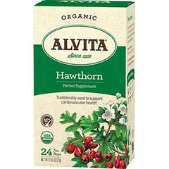 Alvita Teas Organic Herbal Tea Bags - Hawthorn Berry - 24 Bags