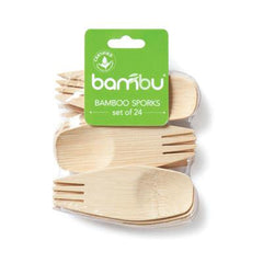 Bambu Veneerware Sporks - 24 Count