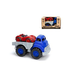 Green Toys Flatbed Truck with Red Racecar