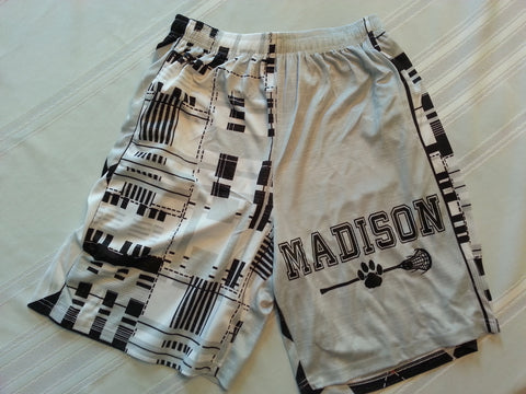 "Madison Lacrosse Short-9"" with pockets"