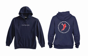VIVA LACROSSE-NAVY HOODIE-CIRCLE OF THE STARS-LAX GIRL
