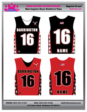 Barrington Lacrosse Uniform Top
