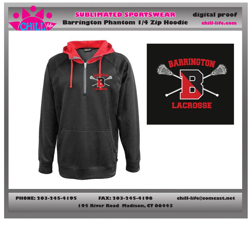 Barrington Lacrosse Phantom 1/4 Zip Hoodie
