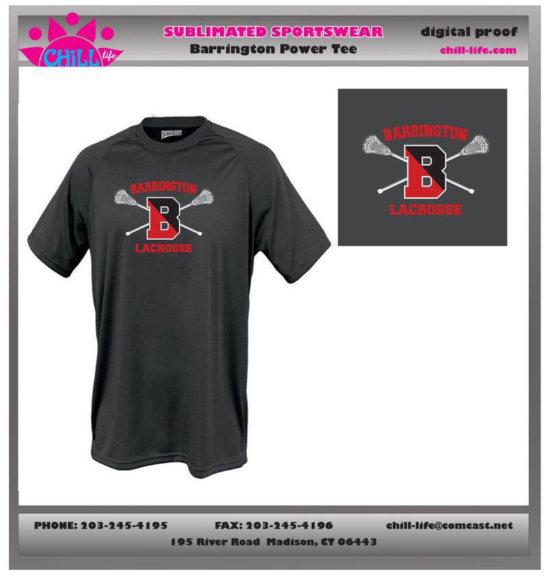 Barrington Lacrosse Performance Dry Fit Tee