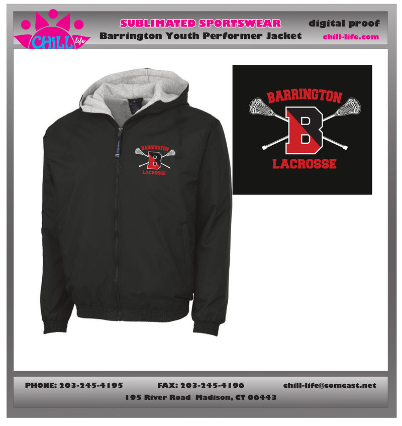 Barrington Lacrosse Youth Performer Jacket