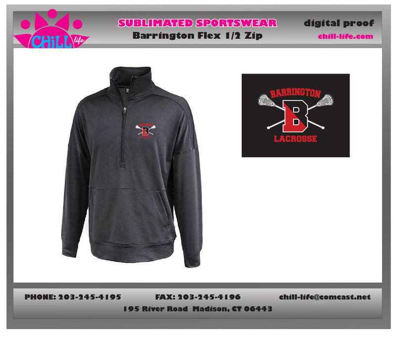 Barrington Lacrosse 1/2 Zip Performance FLEX SWEATSHIRT