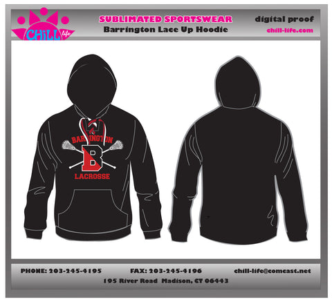 Barrington Lacrosse Lace Up Hoodie