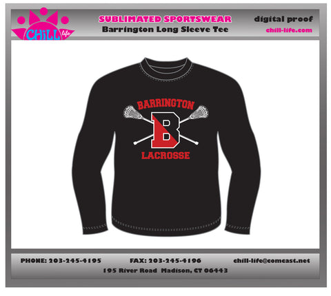 Barrington Lacrosse Long Sleeve Tee