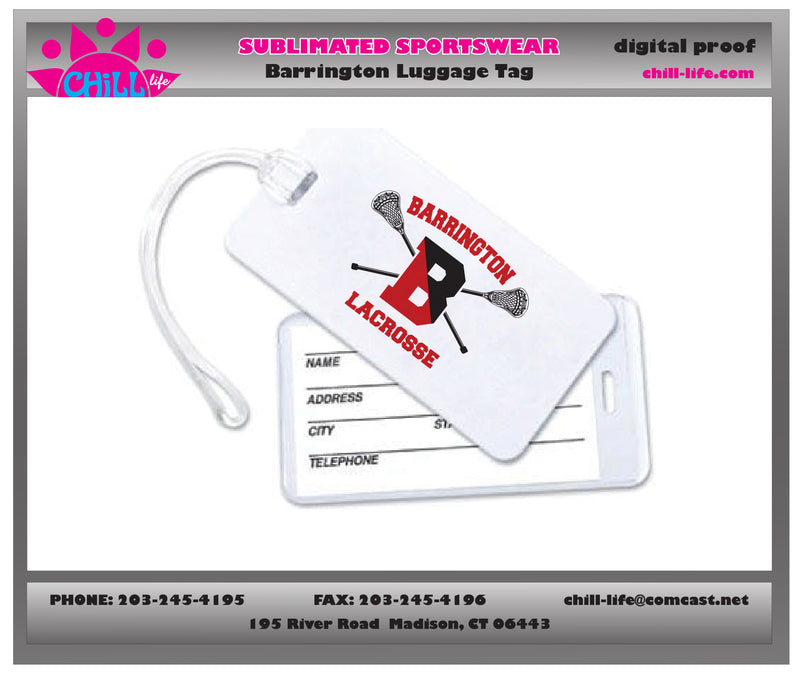 Barrington Lacrosse Luggage/Gear Tag