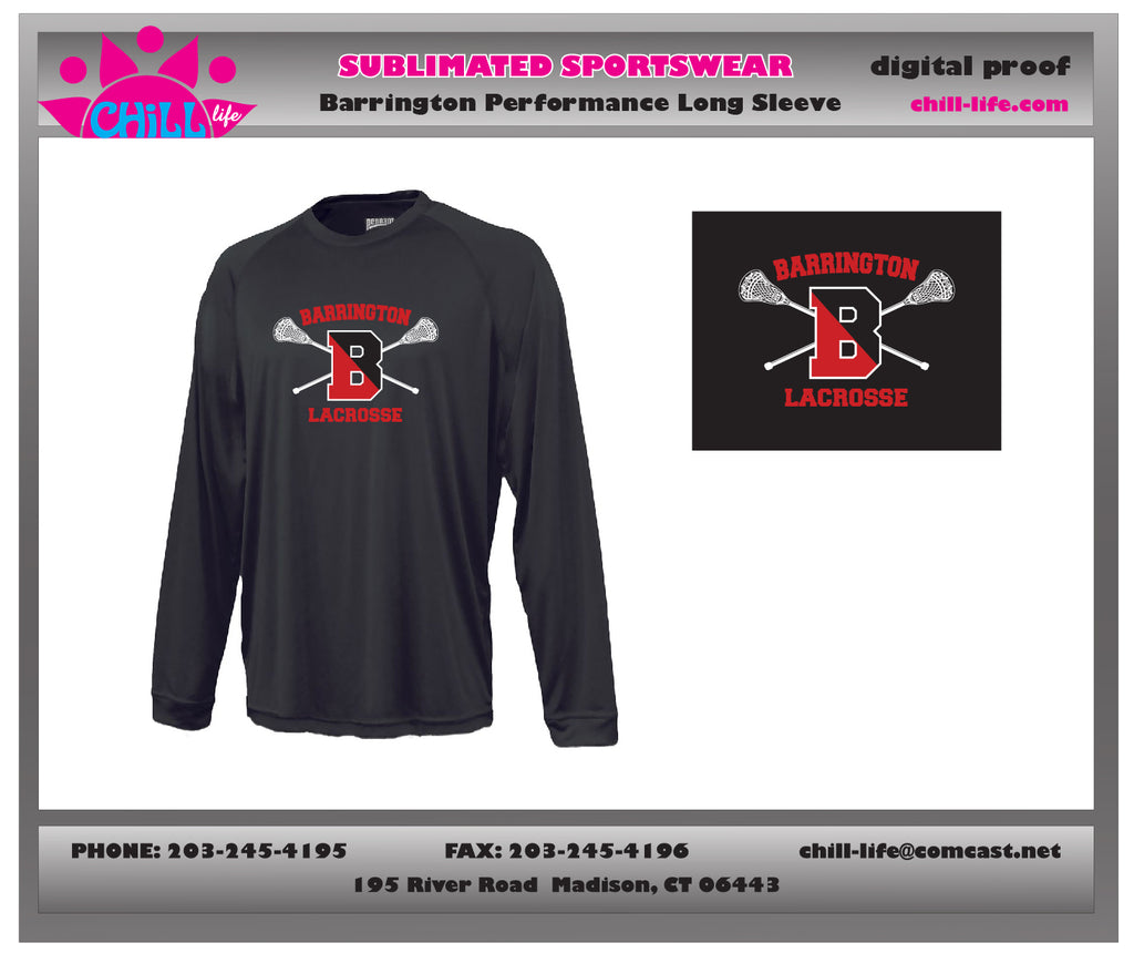Barrington Lacrosse Performance Fabric Long Sleeve