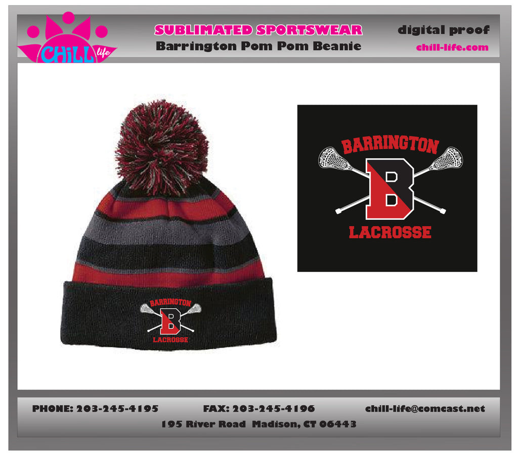 Barrington Lacrosse Pom Pom Hat