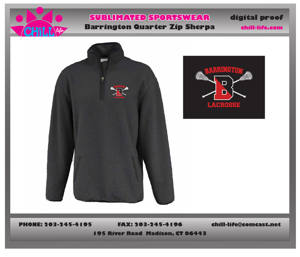 Barrington Lacrosse  1/4 Zip Sherpa Jacket