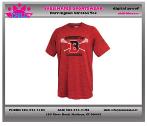 Barrington Lacrosse Stratos Performance Tee-RED