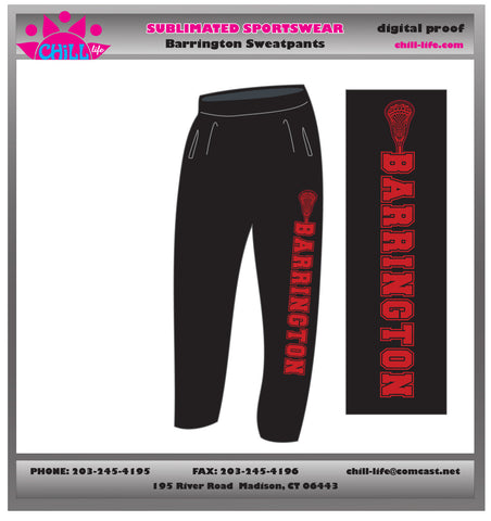 Barrington Lacrosse Heavy Weight Open Bottom Sweatpant