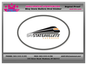 Bay State Bullets Oval Decal