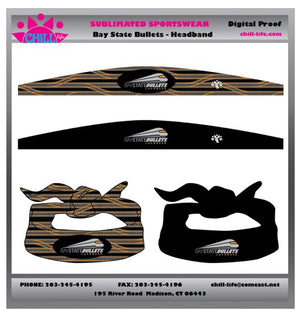 Bay State Bullets Open & Closed Headbands- Reversible