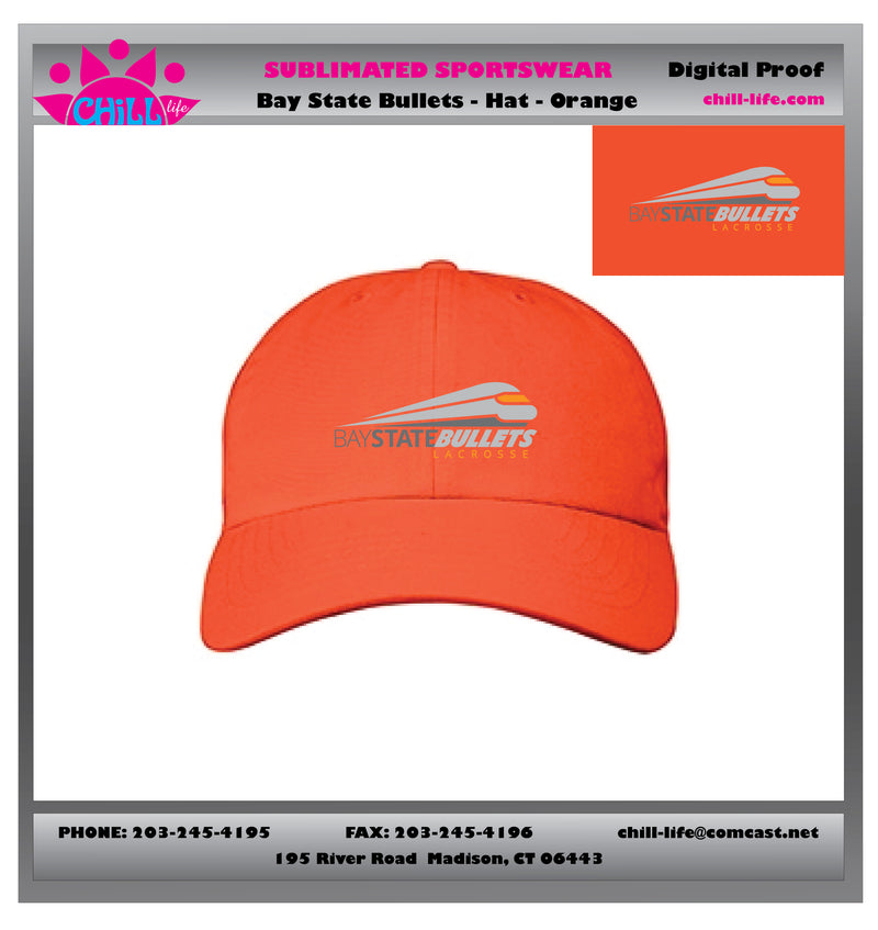 BAY STATE BULLETS Baseball Cap-ORANGE