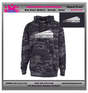 Bay State Bullets Camoflage Hoodie
