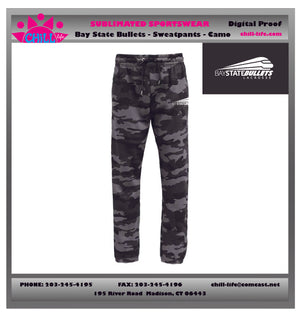 BAY STATE LACROSSE CAMO JOGGERS