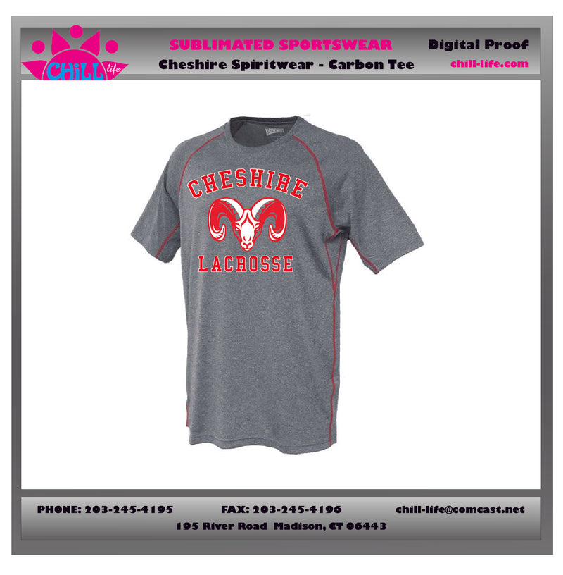 Cheshire Lacrosse Carbon Tee