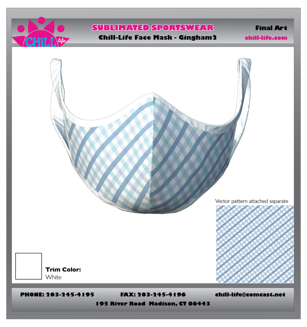 GINGHAM PLAID PROTECTIVE MASK