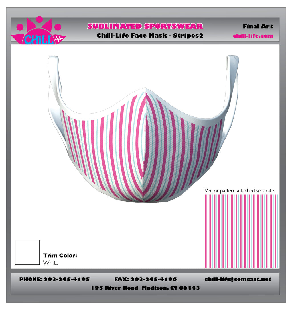 Striped Protective Mask