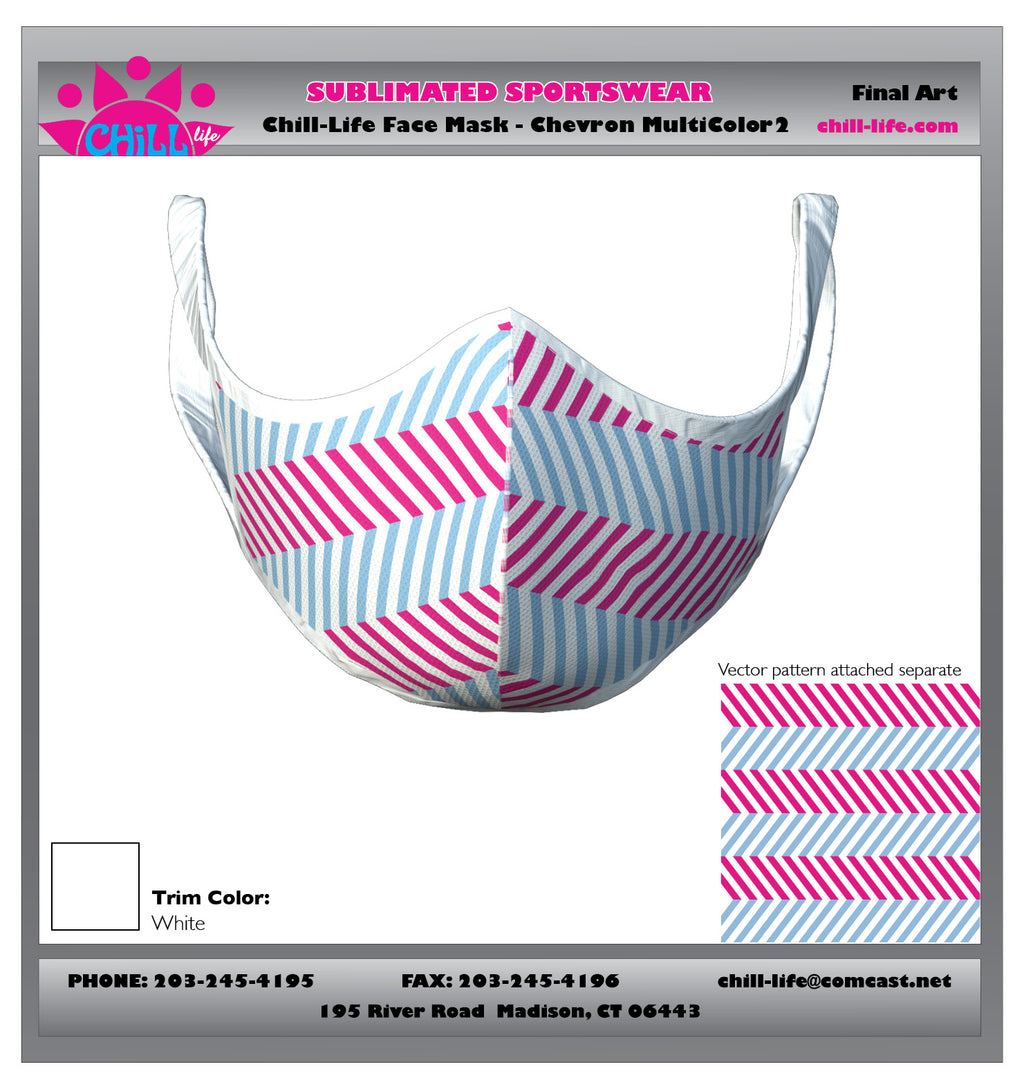 MULTI COLORED MINI CHEVRON PROTECTIVE MASK