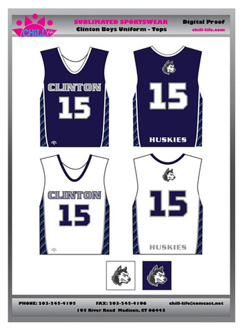 CLINTON BOYS LACROSSE REVERSIBLE GAME JERSEY