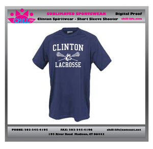 CLINTON LACROSSE UNISEX SHOOTER SHIRT