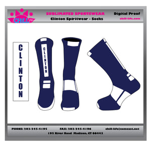 CLINTON LACROSSE CREW LENGTH SOCKS