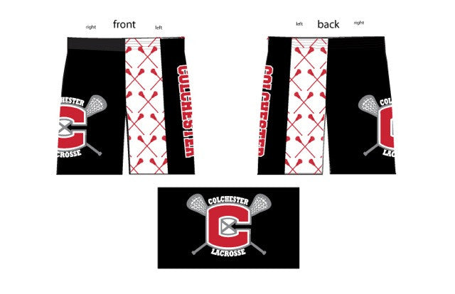 Custom Colchester Sublimated Boys/Mens Short