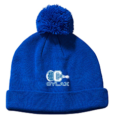 CYLAX knit hat with pom