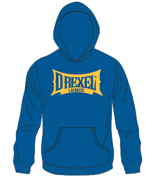 Royal Hoodie with DREXEL Logo