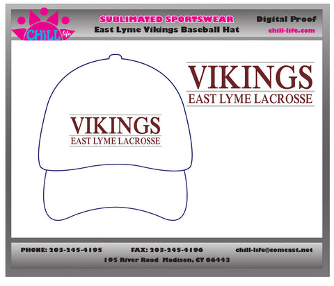 East Lyme Lacrosse Custom Baseball Cap