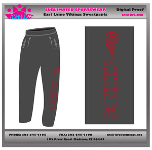 East Lyme Vikings Open Bottom Heavy Weight Sweatpants