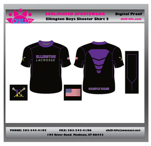 Ellington Lacrosse Custom Sublimated Short Sleeve Shooter Shirt