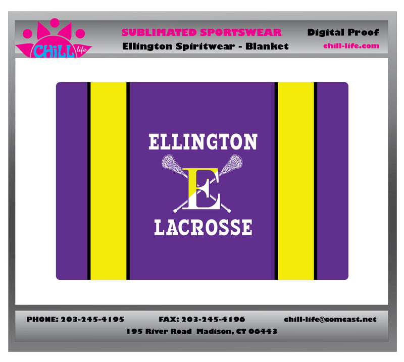 Ellington Sublimated Lacrosse Sherpa Blanket